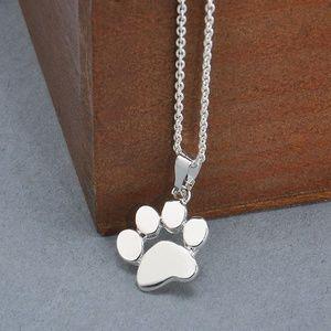 Jewelry - Silver Tone Paw Print Necklace